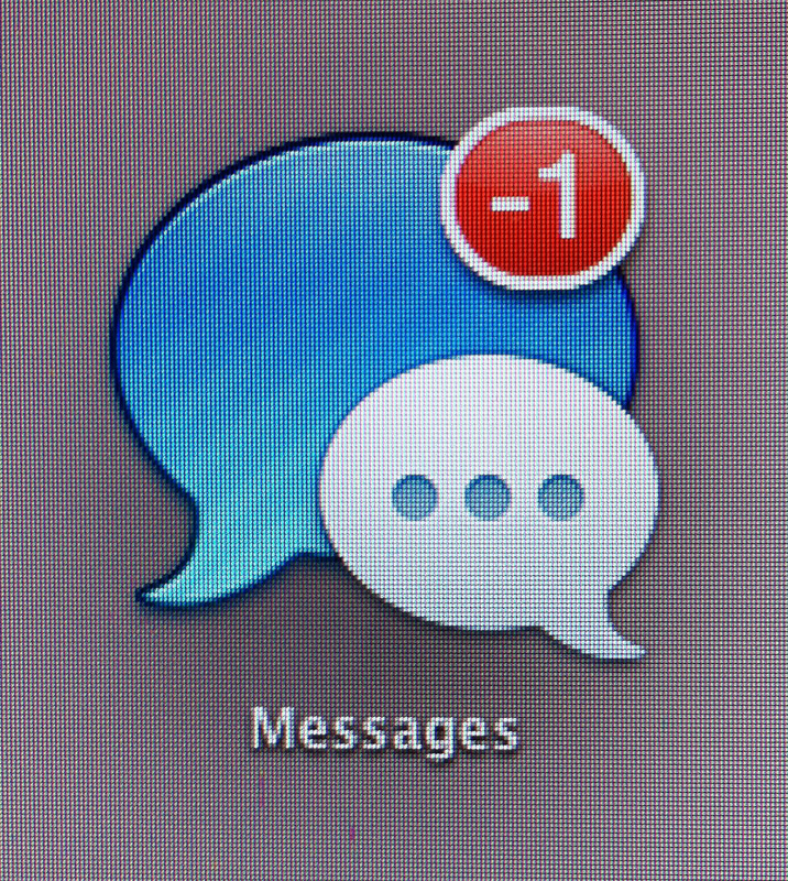 Messages has negative 1 messages
